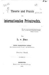 Theorie und Praxis des internationalen Privatrechts ...