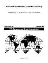 Sodium Nitrite from China and Germany, Invs. 701-TA-453 and 731-TA-1136-1137 (Preliminary)