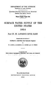 Water-supply Paper: Volumes 384-388