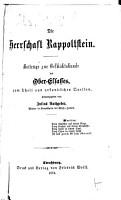 Die Herrschaft Rappoltstein PDF