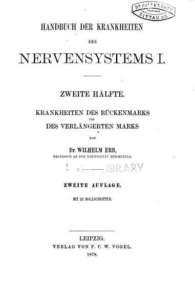 Handbuch der speciellen Pathologie und Therapie  v 11 pt 2   2nd ed   1878 PDF