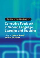The Cambridge Handbook of Corrective Feedback in Second Language Learning and Teaching PDF