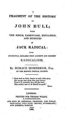 A Fragment of the History of John Bull