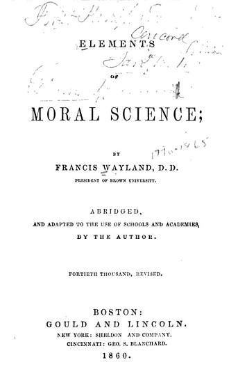 Elements of Moral Science PDF