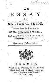An essay on national pride, translated from the German, etc