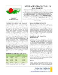 Asparagus Production In Calfornia Book PDF