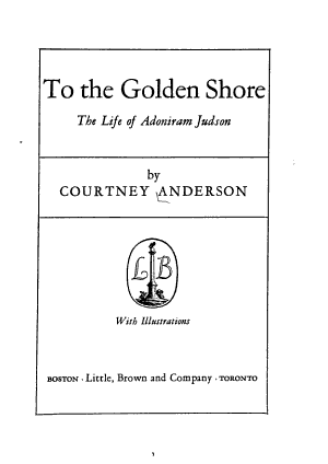 To The Golden Shore
