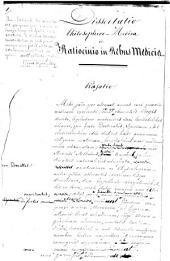 Dissertatio philosophico-medica inauguralis De ratiocino in rebus medicis