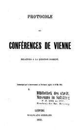 Protocole des Conférences de Vienne relatives à la question d'Orient
