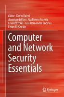 Computer and Network Security Essentials PDF
