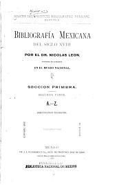 Bibliografía mexicana del siglo XVIII: Número 4
