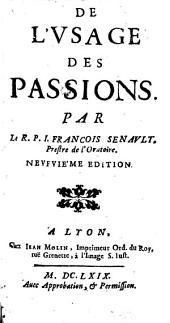 De l'usage des passions ...