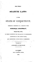 The Public Statute Laws of the State of Connecticut PDF