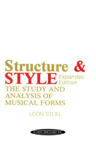 Anthology of Musical Forms   Structure   Style  Expanded Edition  Book