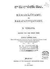 Rāmarājīyamu, or Narapativijāyamu