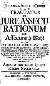 Tractatus de jure assecurationum