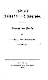 Platons werke: Griechisch und deutsch mit kritischen und erklärenden Anmerkungen, Bände 15-17