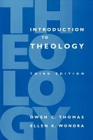 Introduction to Theology  3rd Edition PDF