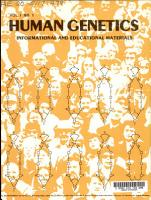 Human Genetics  Informational and Educational Materials PDF