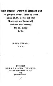 Early Popular Poetry of Scotland and the Northern Border: Volume 2