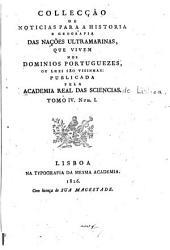 Collecção de noticias para a historia e geografia das nações ultramarinas: que vivem nos dominios portuguezes, ou lhes são visinhas, Volume 4