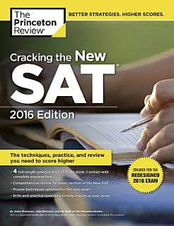 Cracking the New SAT with 4 Practice Tests  2016 Edition Book