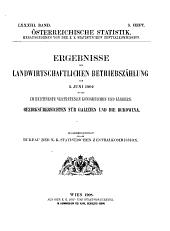 Österreichische Statistik: Band 83,Teil 5