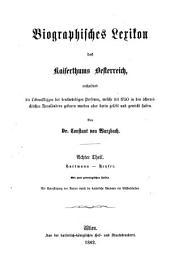 Biographisches Lexikon des Kaiserthums Oesterreich: enthaltend die Lebensskizzen der denkwürdigen Personen, welche 1750 bis 1850 im Kaiserstaate und in seinen Kronländern gelebt haben. Hartmann - Heyser. 8