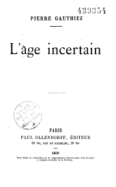 L'âge incertain