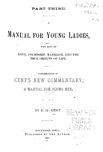 Download A Manual for Young Ladies Book