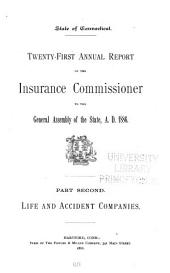 Annual Report of the Insurance Commissioner of Connecticut: Volume 2