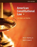 American Constitutional Law  Civil Rights and Liberties  Volume II PDF