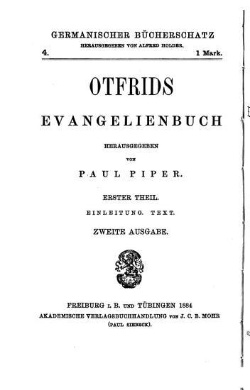 Otfrids Evangelienbuch PDF