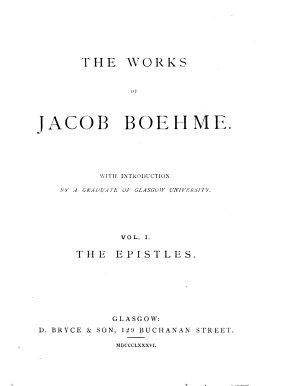 The Epistles of Jacob Behmen PDF
