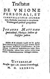 Tractatus de unione personali et communicatione idiomatum