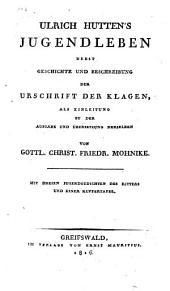 Ulrich Huttens Jugendleben