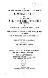 De Hegelii notionibus finiti infinitique