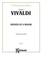 Sonata in A Major: For Viola and Piano