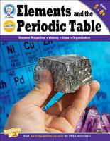 Elements and the Periodic Table  Grades 5   8 PDF