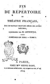 Fin du Repertoire du Theatre Francais