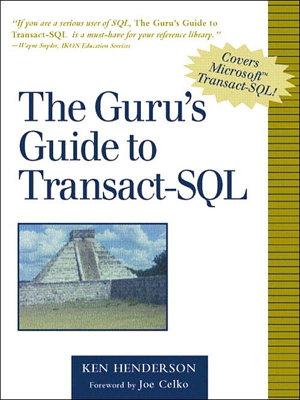 The Guru s Guide to Transact SQL PDF