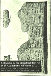 Catalogue of the Cuneiform Tablets in the Kouyunjik Collection of the British Museum: Volume 5