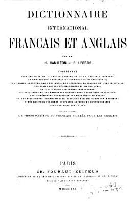 Dictionnaire international fran  ais et anglais PDF