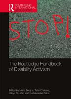 The Routledge Handbook of Disability Activism PDF