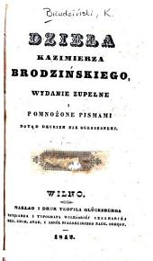 Dzieła Kazimierza Brodzińskiego: Tomy 5-6