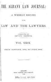 Albany Law Journal: Volumes 29-30