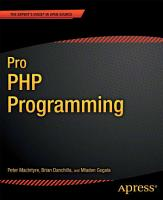 Pro PHP Programming PDF