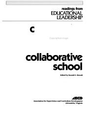 Cooperative Learning and the Collaborative School PDF