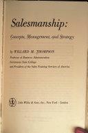 Salesmanship: Concepts, Management, and Strategy