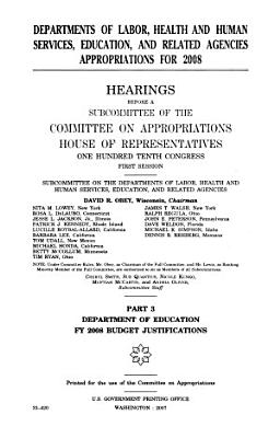 Departments of Labor  Health and Human Services  Education  and Related Agencies Appropriations for 2008 PDF